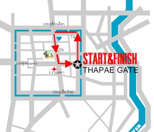 Chiang Mai Marathon Race Route, Full and Half Marathon